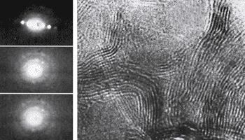 Нанодифракционная картина шунгитового углерода (зонд 0,3 – 0,7 нм)